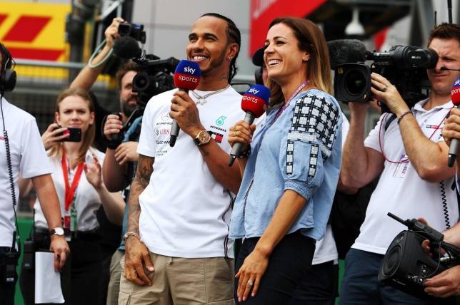 Льюис Хэмилтон в эфире телеканала Sky Sports в дни Гран При Великобритании