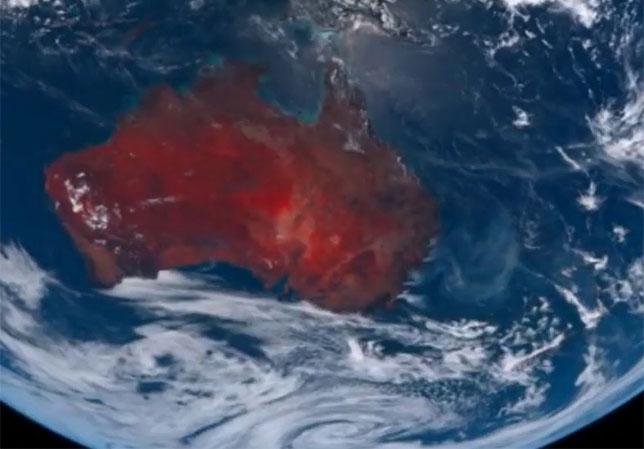 Из космоса картина пожаров в Австралии выглядит не менее страшно, чем на земле