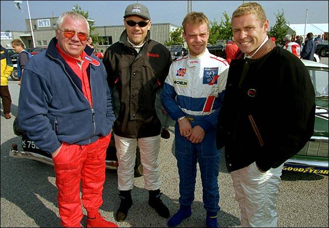 Четверо датских гонщиков. Том Белсо, Джон Нильсен, Ян Магнуссен и Том Кристенсен. Foto: Lars Rønbøg