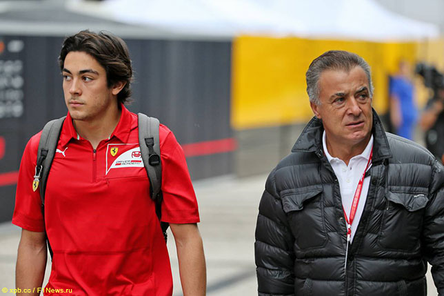 Джулиано и его отец Жан Алези