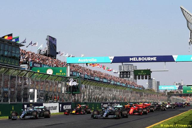 Старт прошлгоднего Гран При Австралии