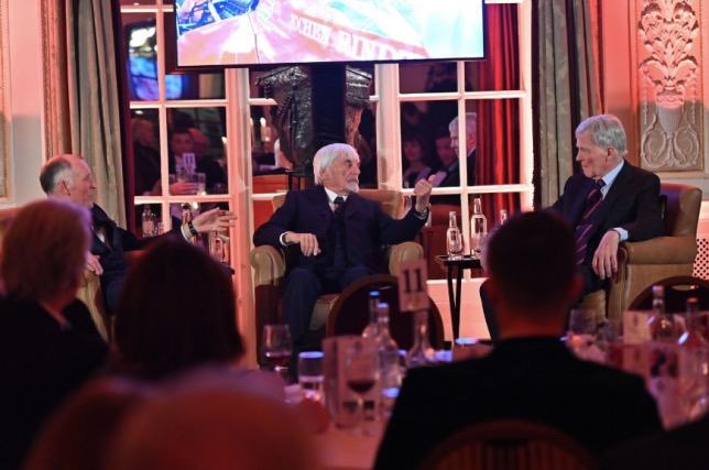 Берни Экклстоун и Макс Мосли на торжественном ужине в Королевском автоклубе
