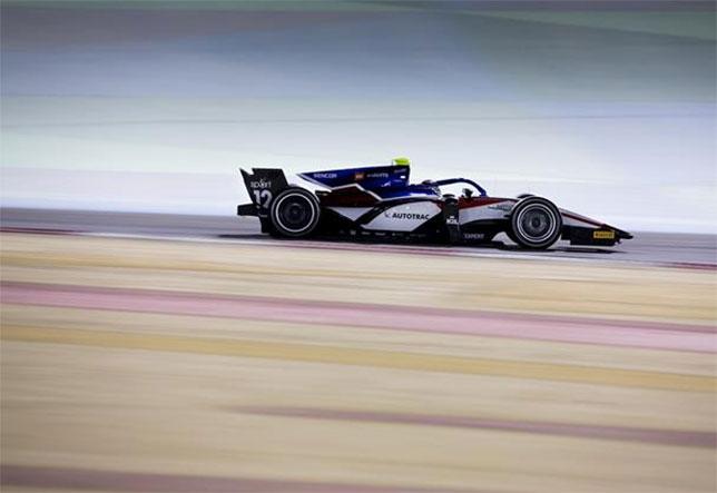 Педро Пике на тестах Формулы 2 в Бахрейне