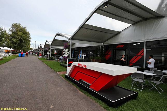 Альберт-парк после отмены Гран При Австралии