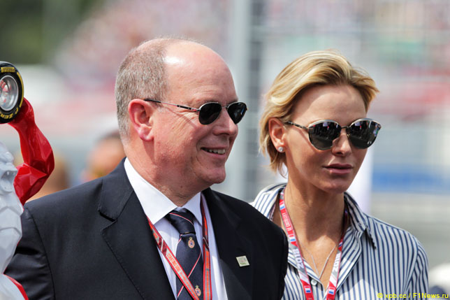 Князь Альбер II  и княгиня Шарлен