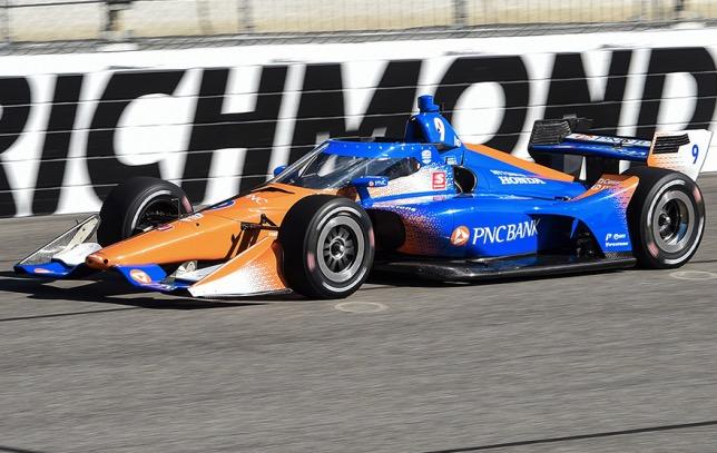 Машина Скотта Диксона, команда Chip Ganassi Racing, с установленной системой Aeroscreen