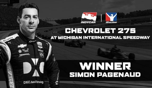 144009 - IndyCar: Пажено выиграл виртуальную гонку в Мичигане