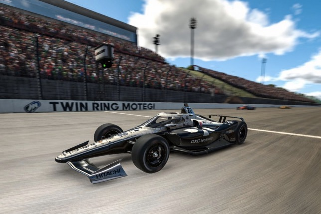 Симон Пажено – победитель виртуальной гонки на овальном автодроме в Мотеги