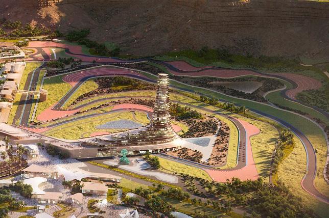 Проект трассы в Саудовской Аравии