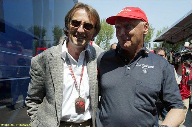 Лука ди Монтедземоло и Ники Лауда в Имоле. Гран При Сан-Марино 2004