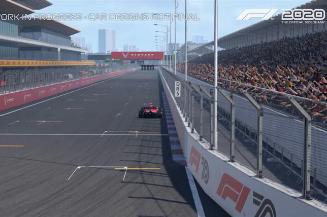 Кадр из игры F1 2020