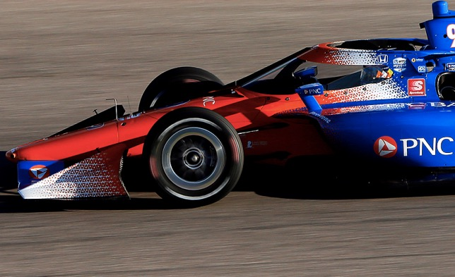 Система Aeroscreen на машине Скотта Диксона, победителя гонки в Техасе