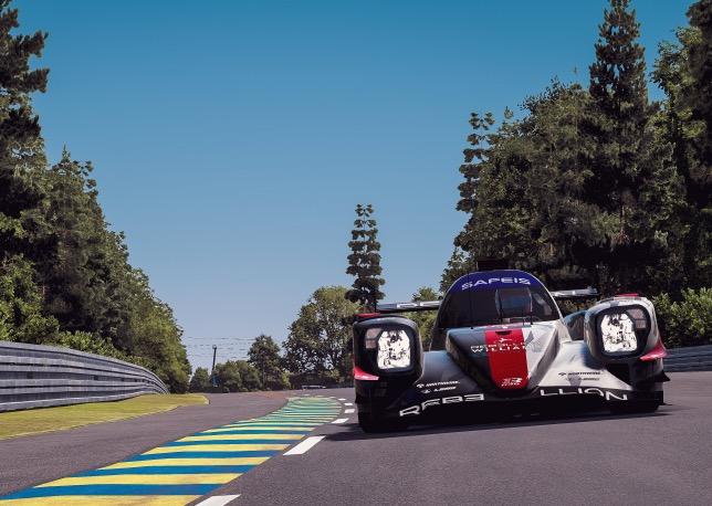 Виртуальная машина команды Rebellion Williams на трассе в Ле-Мане