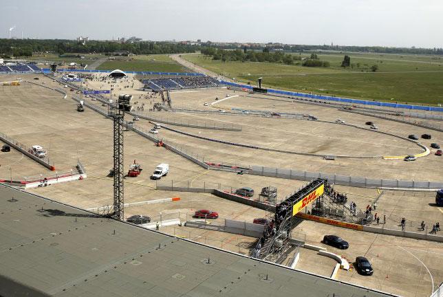 Сооружение трассы Формулы E на территории аэропорта Темпльхоф