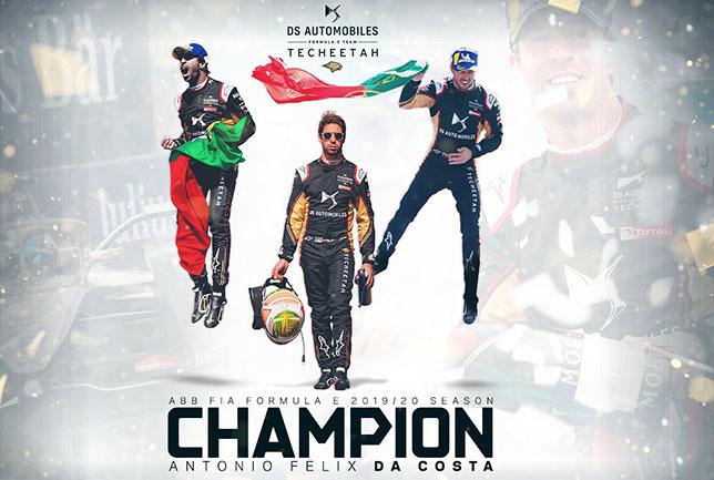 Формула E: Вернь выиграл гонку, Да Кошта – титул