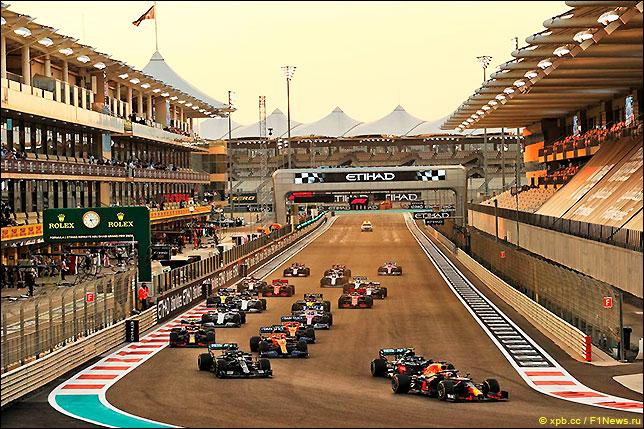 Старт Гран При Абу-Даби 2020