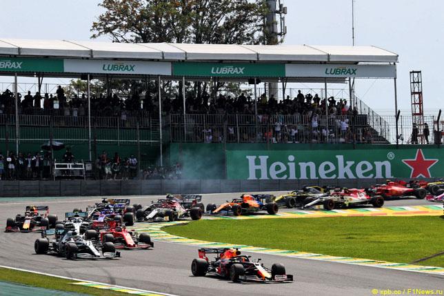 Старт Гран При Бразилии, 2019 год