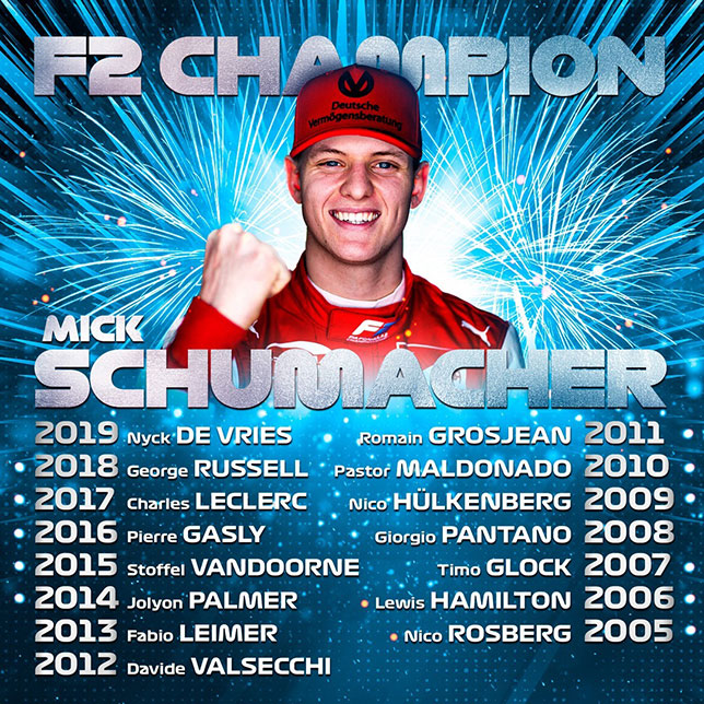 149353 - Формула 2: Дарувала выиграл гонку, Шумахер – титул