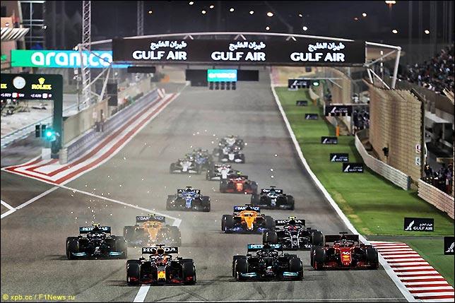 Старт Гран При Бахрейна 2021