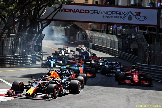 Старт Гран При Монако 2021