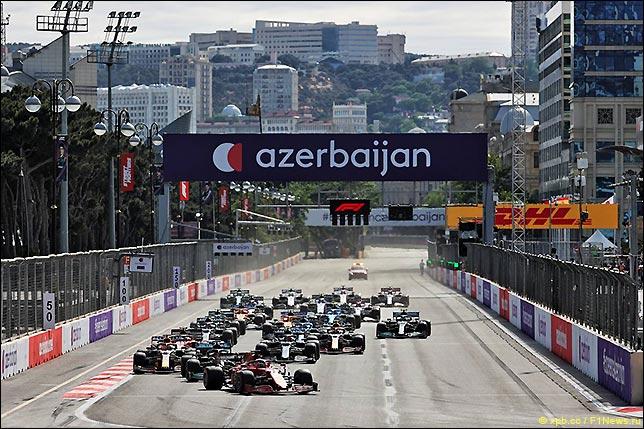 Старт Гран При Азербайджана 2021