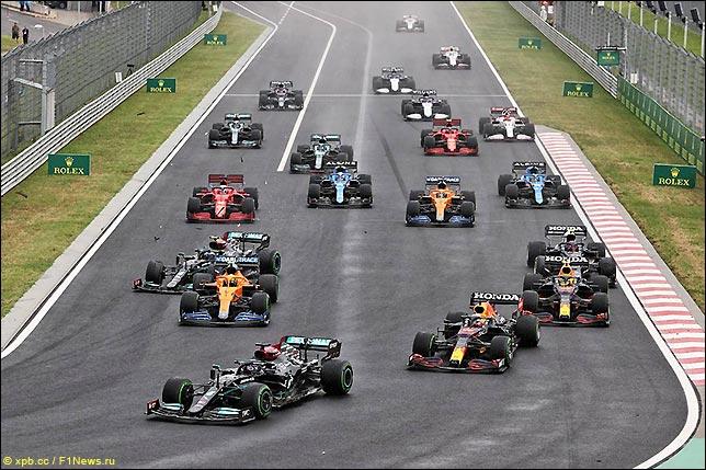 Старт Гран При Венгрии 2021
