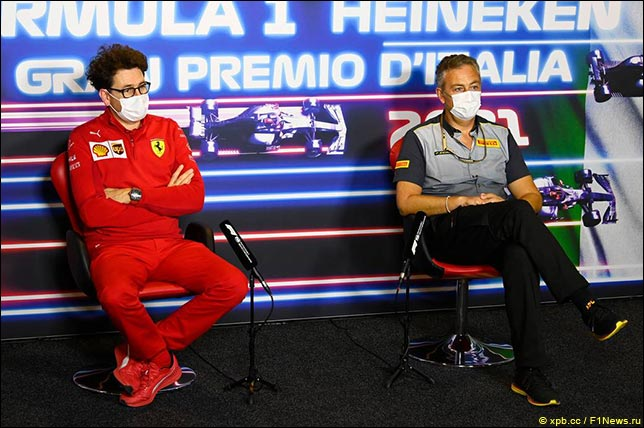 Маттиа Бинотто (Ferrari) и Марио Изола (Pirelli)