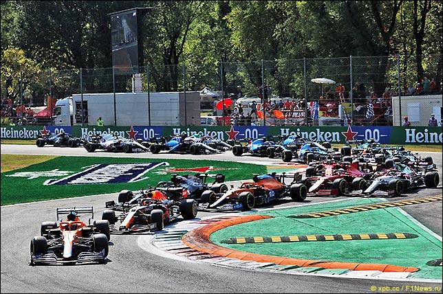 Старт Гран При Италии 2021