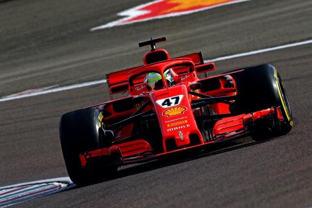 Мик Шумахер на тестах во Фьорано за рулём SF71H, фото пресс-службы Ferrari