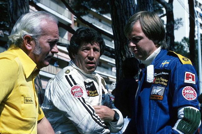 Колин Чэпмэн, Марио Андретти и Ронни Петерсон, 1978 год