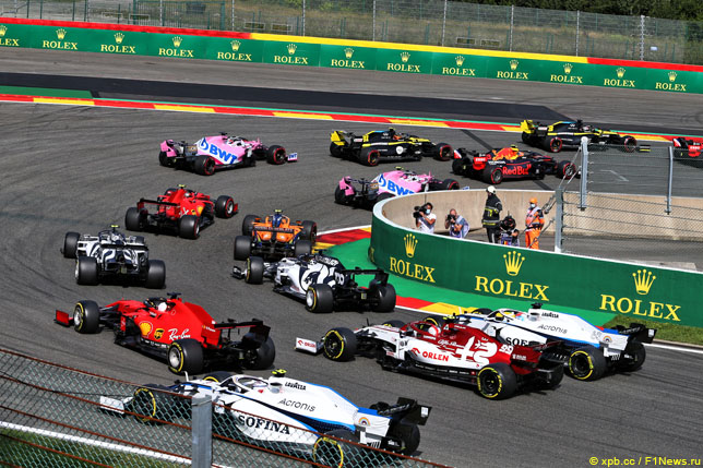 Старт Гран При Бельгии, 2020 год