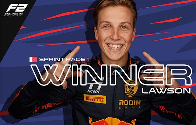 Ф2: Первую гонку сезона выиграл дебютант Лиам Лоусон