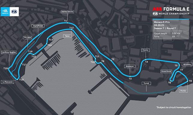 Формула E: Представлена трасса гонки в Монако