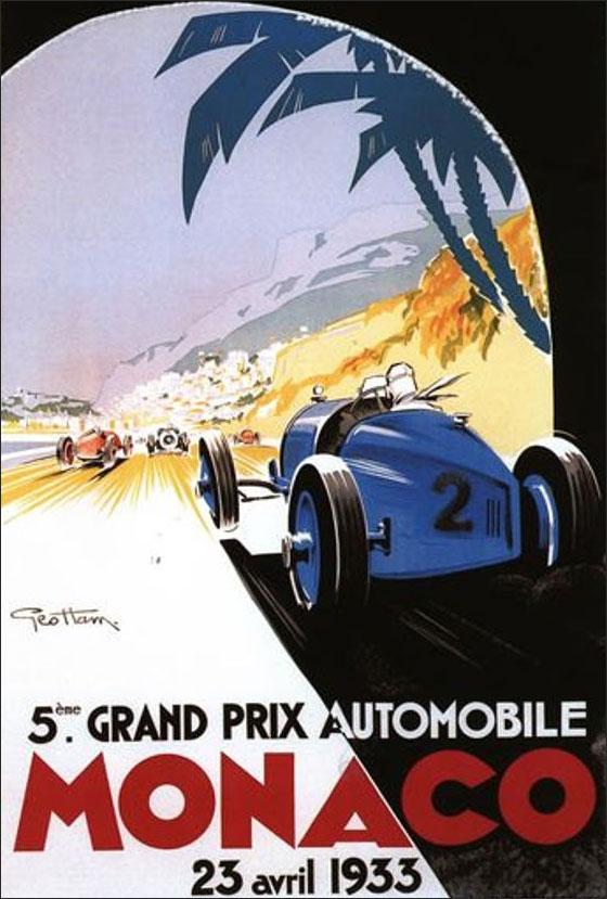 Постер Гран При Монако 1933 года