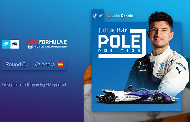 Формула E: С поула в Валенсии стартует Джейк Деннис