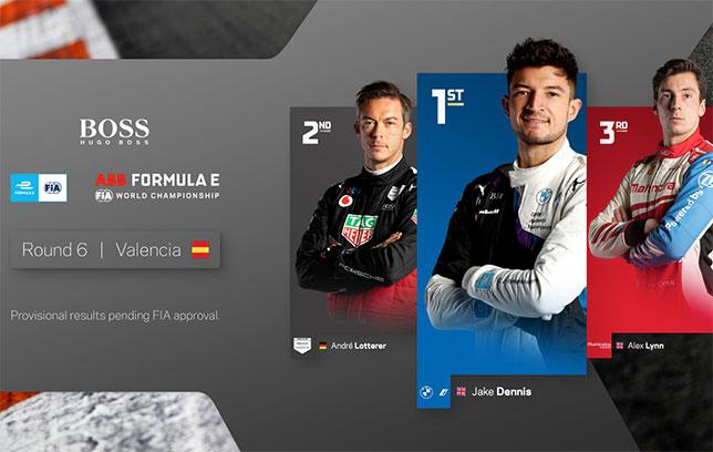 Формула E: Джейк Деннис одержал первую победу