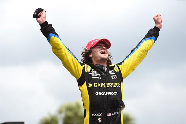 Колтон Херта, победитель гонки в Сент-Питерсберге