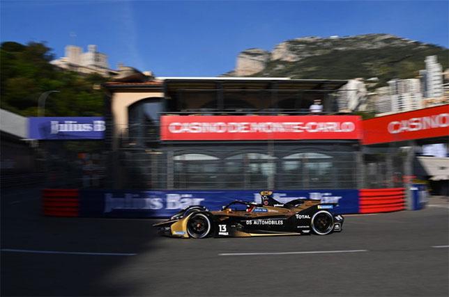 Антониу Феликс да Кошта на трассе в Монако, фото пресс-службы Формулы E