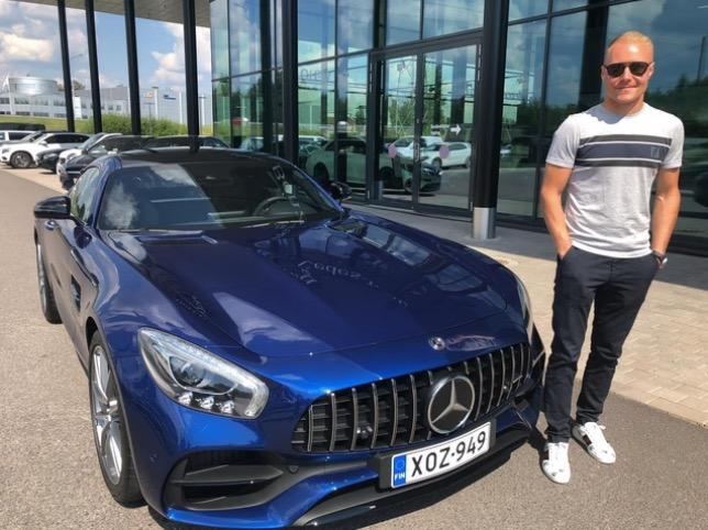 Валттери Боттас и его Mercedes, фото tori.fi