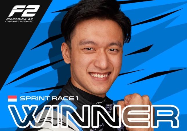 Гуан Ю Чжоу, победитель первой спринтерской гонки в Монако