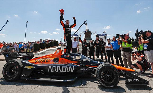 Пато О'Вард, победитель Гран При Дейтройта, фото пресс-службы Arrow McLaren SP