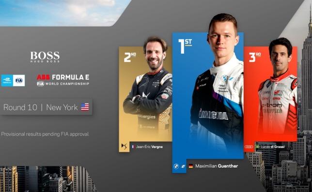 Формула E: Гонку в Нью-Йорке выиграл Макс Гюнтер