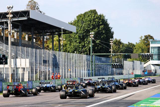 Стартовая решётка Гран При Италии, 2020 год