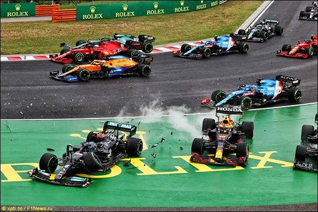 Авария на первом круге Гран При Венгрии