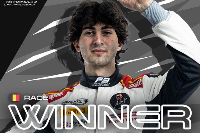 Ф3: Лоренцо Коломбо выиграл дождевую гонку в Спа