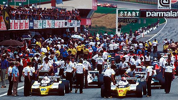 Подготовка к старту Гран При Австрии 1980 года