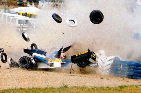 Авария Грегора Фойтека на Гран При Испании 1989 года
