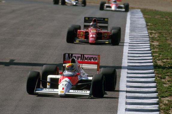Айртон Сенна и Герхард Бергер на Гран При Испании 1989 года