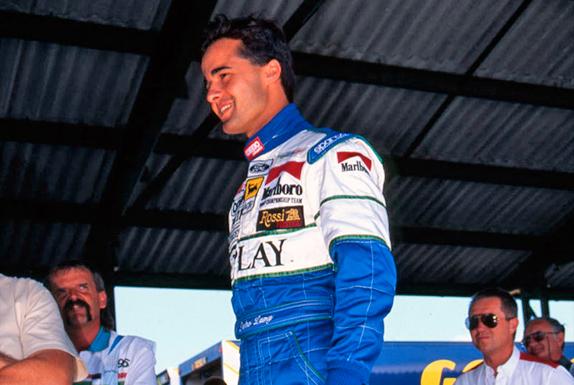 Педро Лами на взвешивании на Гран При Венгрии 1995 года