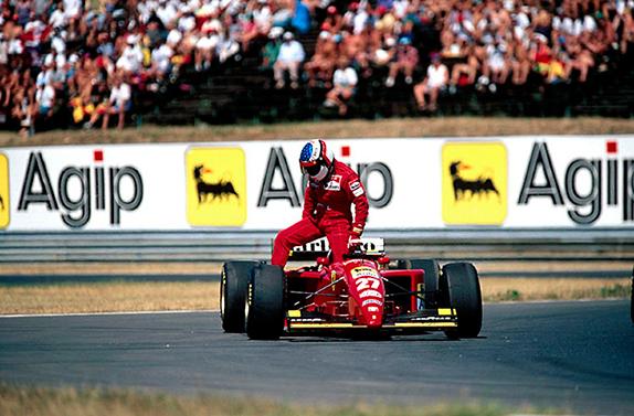 Сход Жана Алези на Гран При Венгрии 1995 год